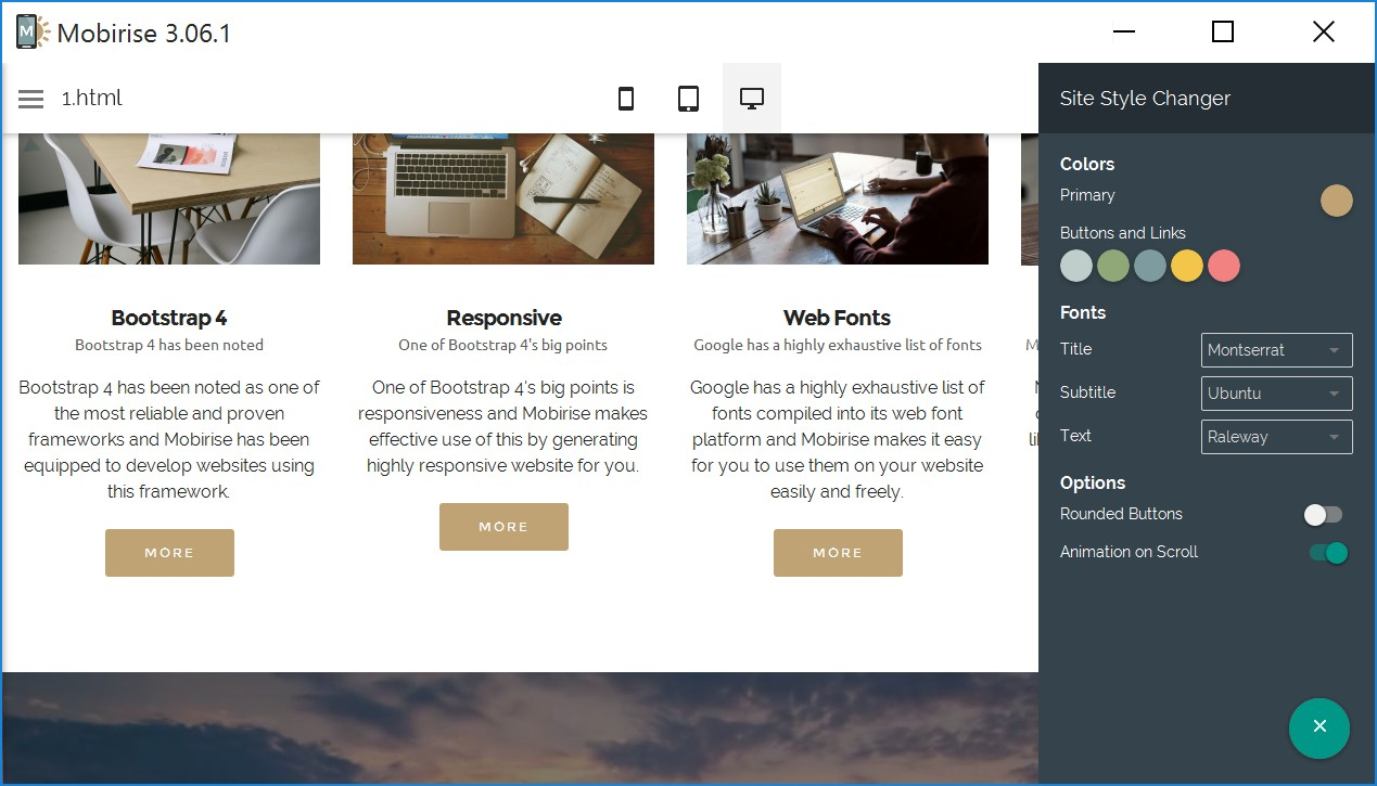 Simple Responsive Web Page Maker