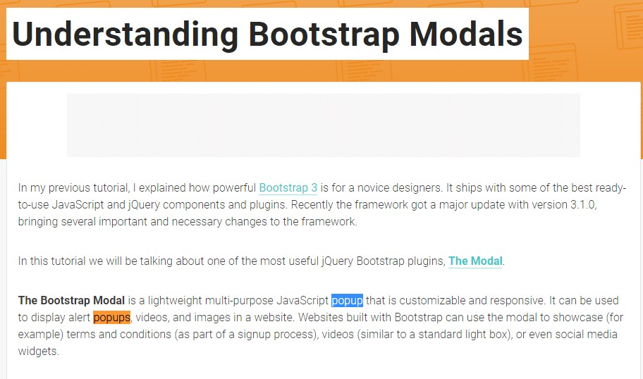 Another useful  content  concerning Bootstrap Modal Popup