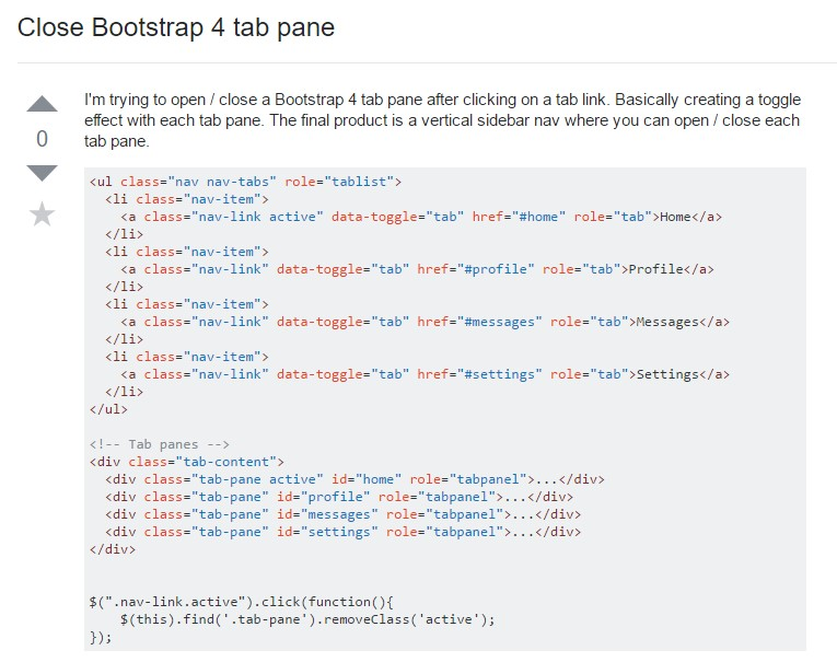 How to close Bootstrap 4 tab pane