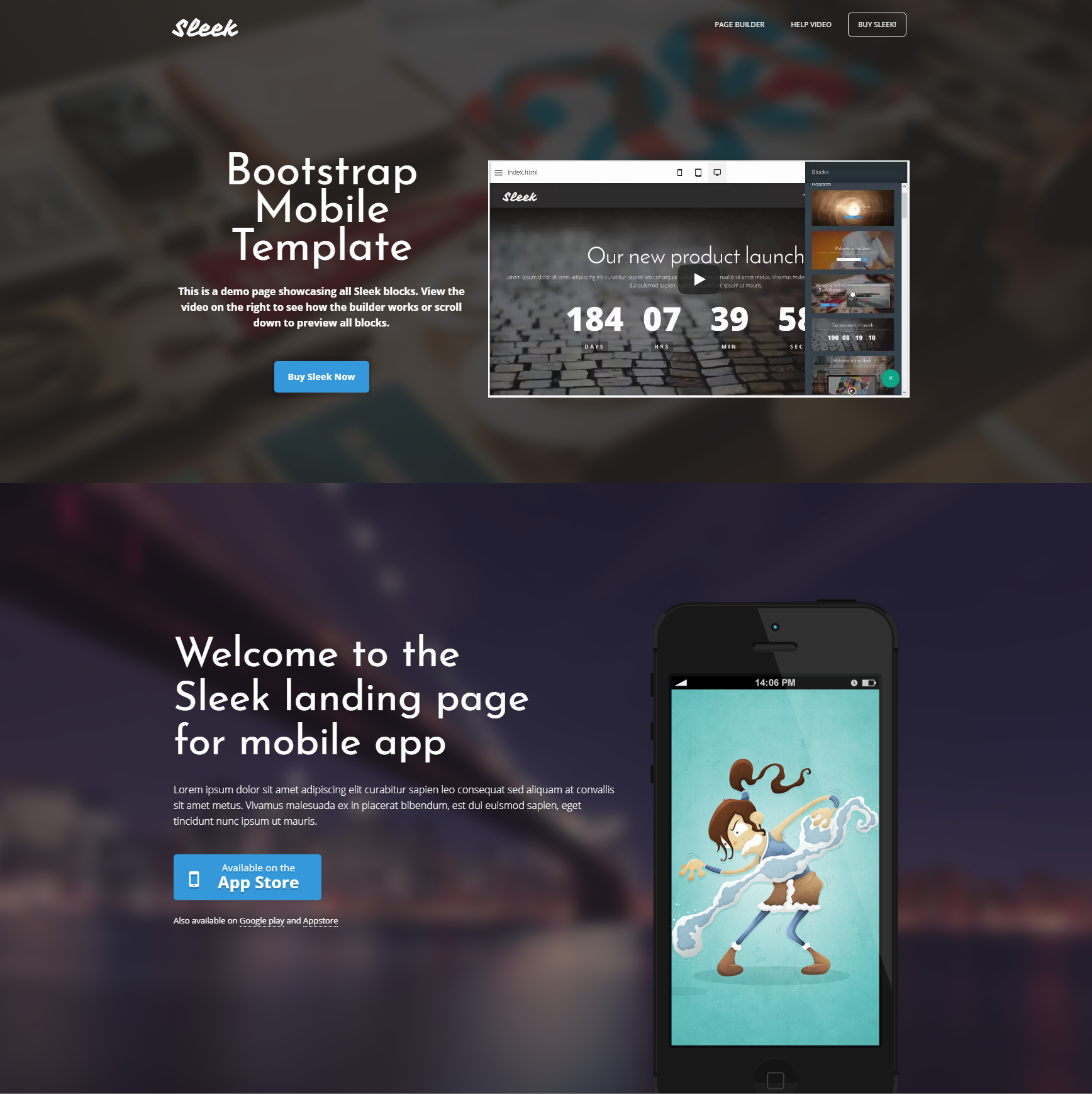 Free Bootstrap Mobile Themes