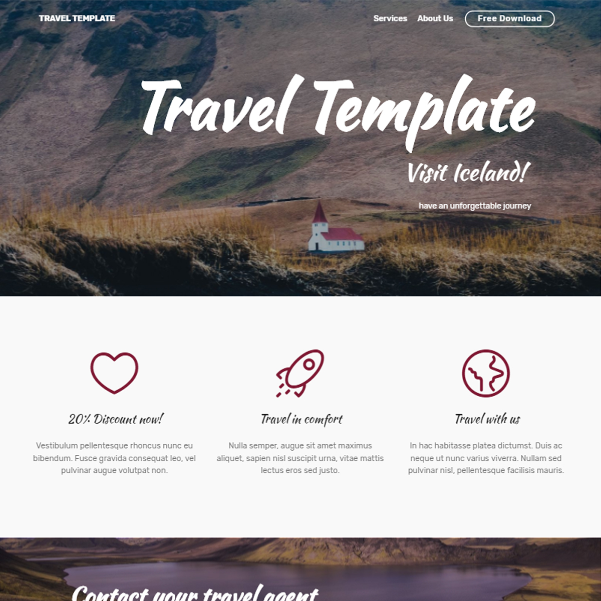 HTML5 Bootstrap Travel Templates