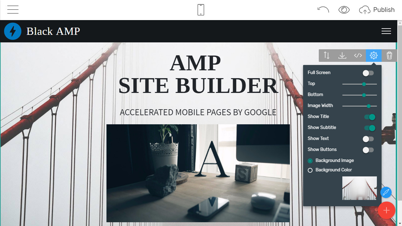 Mobile Page Creator