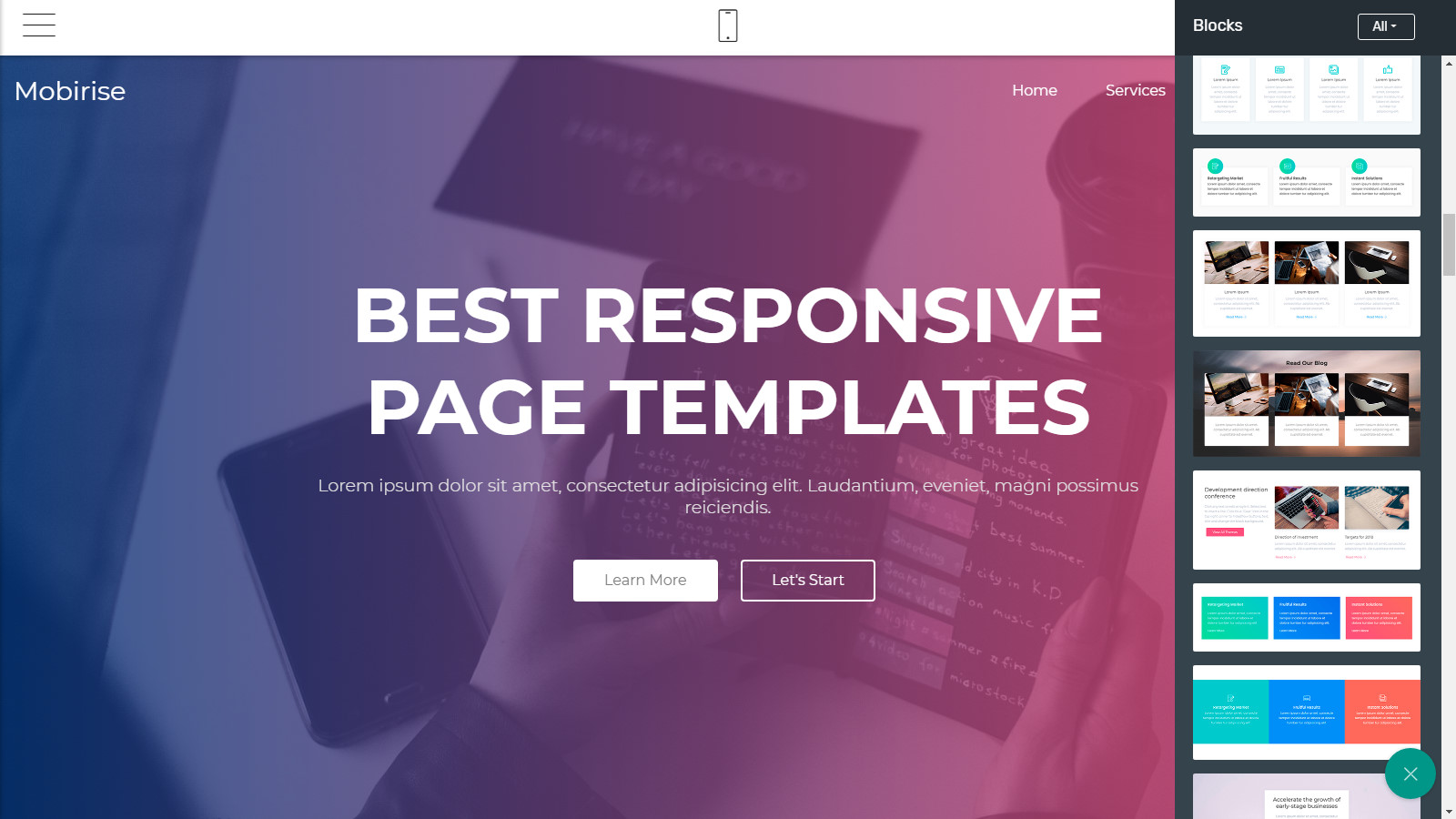responsive webpage themes